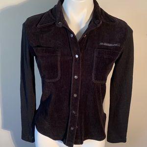 Harley-Davidson Long Sleeve Corduroy Snap Up Shirt